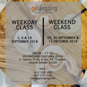 weekday + weekend class sept 2018