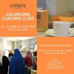 Golangsing Coaching Class 22, 23 Juni & 6 Juli 2019